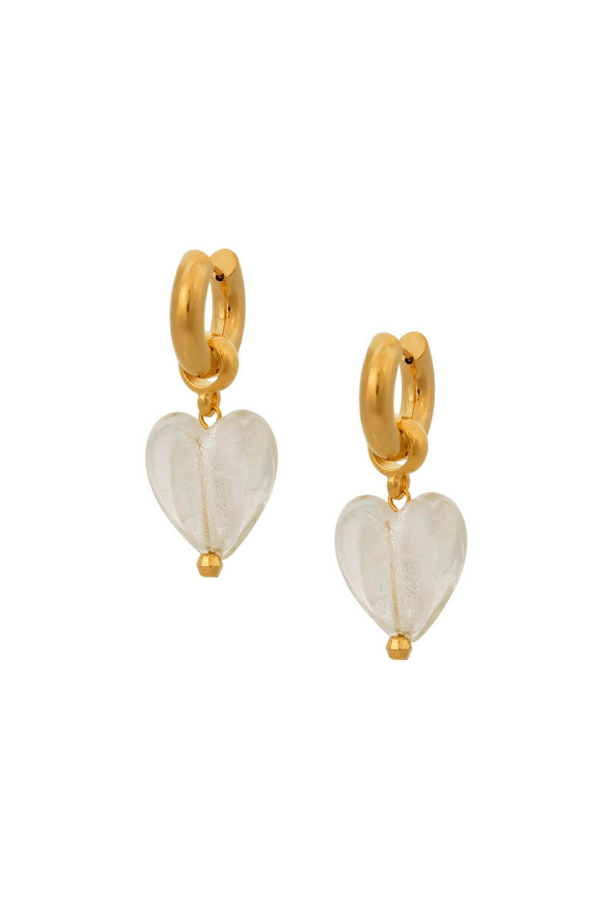 Mayol | Heart Of Glass Crystal Earrings | Girls with Gems