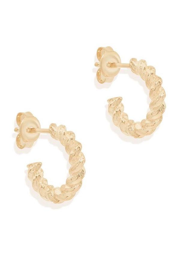 By Charlotte | Gold Divine Fate Small Hoops | Girls with Gems