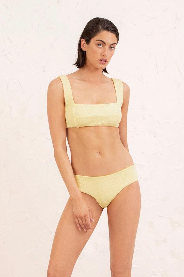 Fella Swim | Franco Top Pale Daffodil | Girls with Gems