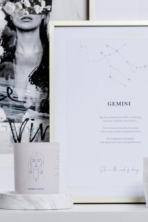 Damselfly | Gemini Large Candle | Girls With Gems