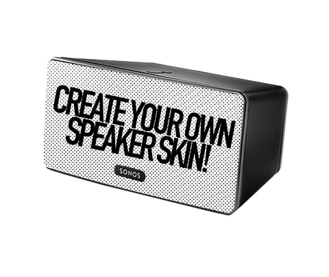 CREATE YOUR OWN Custom Sonos Play:3 Speaker Skin Decal