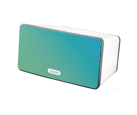 Aqua Speaker Skin Sonos Play:3 White Mockup