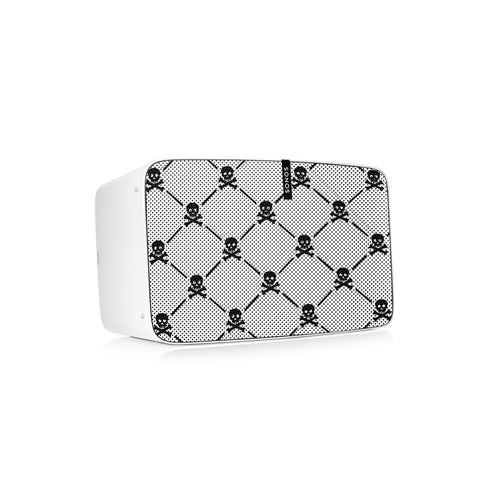 Boned Fancy (WHT/BLK) Speaker Skin Sonos Play:5 (gen2)