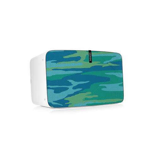 Camo Aqua Speaker Skin Sonos Play:5 (gen2) White