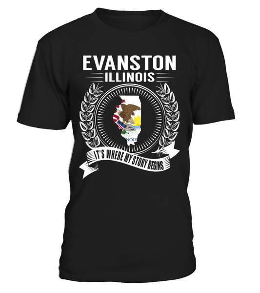 Evanston, Illinois Its Where My Story Begins T-Shirt