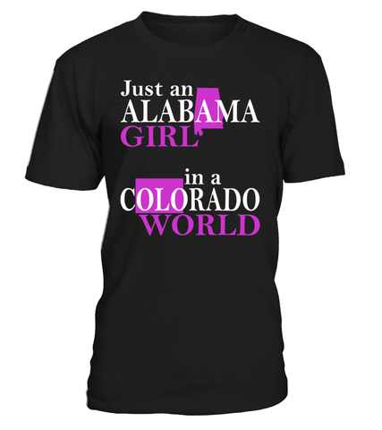 Alabama Girl in a Colorado World State T-Shirt