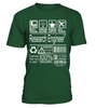 Research Engineer Multitasking Job Title T-Shirt