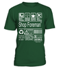 Shop Foreman Multitasking Job Title T-Shirt