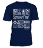 Sprinkler Fitter Multitasking Job Title T-Shirt