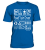 Road Train Driver Multitasking Job Title T-Shirt