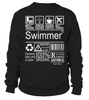 Swimmer Multitasking Job Title T-Shirt