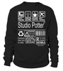 Studio Potter Multitasking Job Title T-Shirt