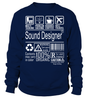 Sound Designer Multitasking Job Title T-Shirt