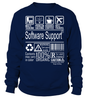 Software Support Multitasking Job Title T-Shirt