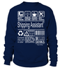 Shipping Assistant Multitasking Job Title T-Shirt