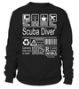 Scuba Diver Multitasking Job Title T-Shirt