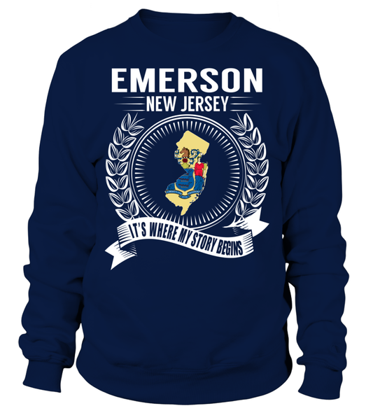 Emerson, New Jersey Its Where My Story Begins T-Shirt