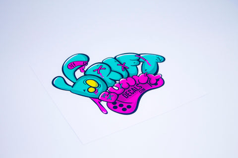 drift bunny logo sticker