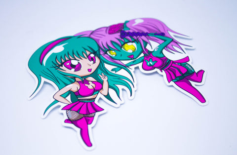 Chibi Racer girls - Anime and zombie