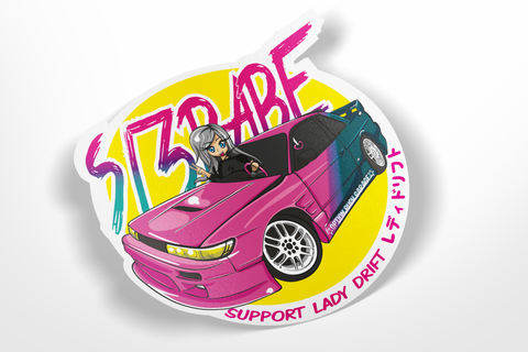 s13babe - Support Lady Drift! sticker
