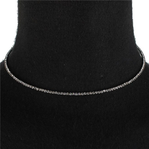 "10"" crystal tennis choker collar necklace"