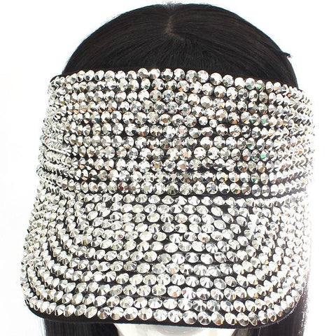crystal bling denim jean sun visor cap hat