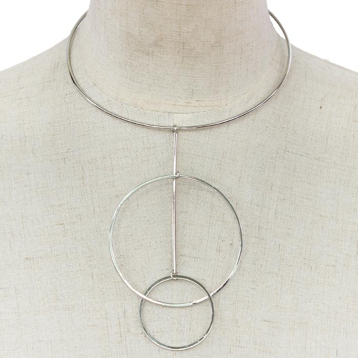 "15"" dangle rings choker necklace"