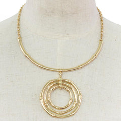 "14"" ring drop choker necklace"