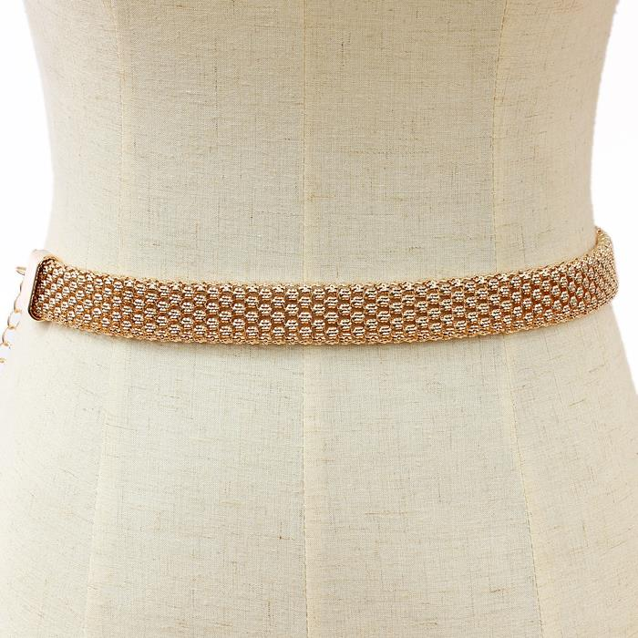 "25"" - 48"" gold mesh belt 1"" wide"