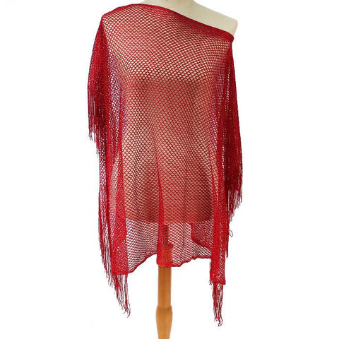 Fashion fringe Poncho Crochet summer Poncho