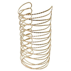 "6""  twisted cage cuff bracelet bangle"
