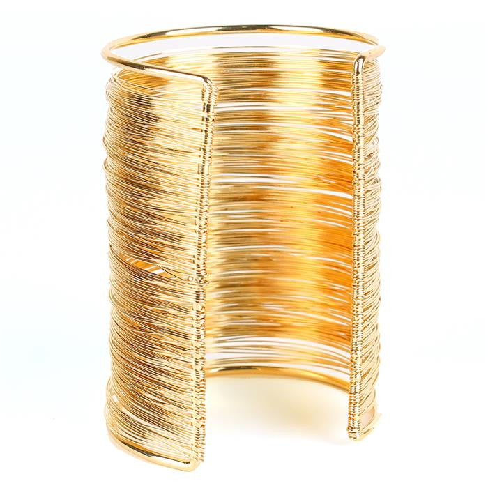 "3.50"" wire tiered wide bracelet bangle cuff basketball wives"