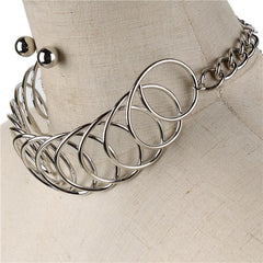 "12""  circle cuff 1"" wide collar choker necklace"