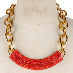 "18"" crystal pave chunky chain necklace celebrity"