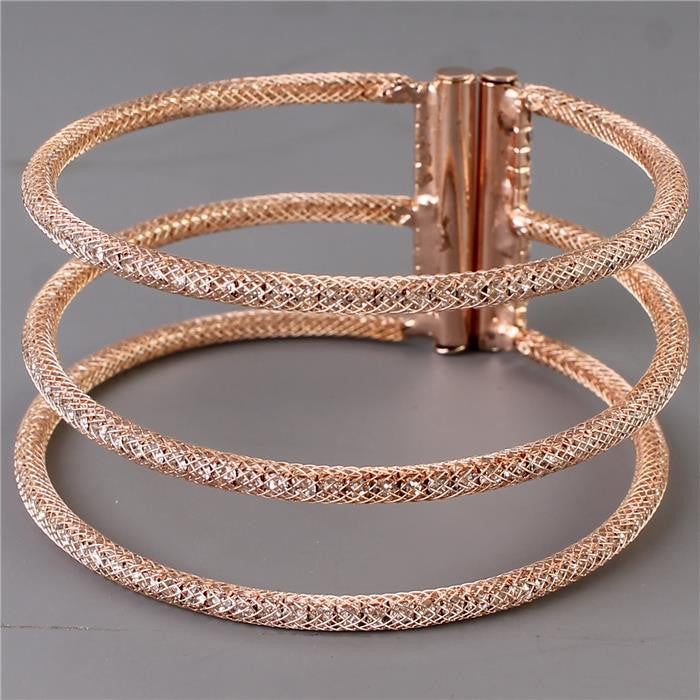 "1.40"" wide rose gold crystal bracelet bracelet bangle cuff"