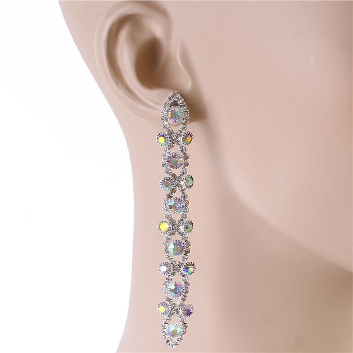 "3.50"" dangle earrings bridal prom pageant"