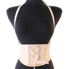 "31"" faux leather cinch corset belt 5.50"" wide suspender stretchable"