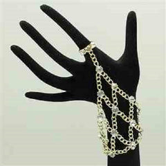 crystal hand boho chain bracelet adjustable ring