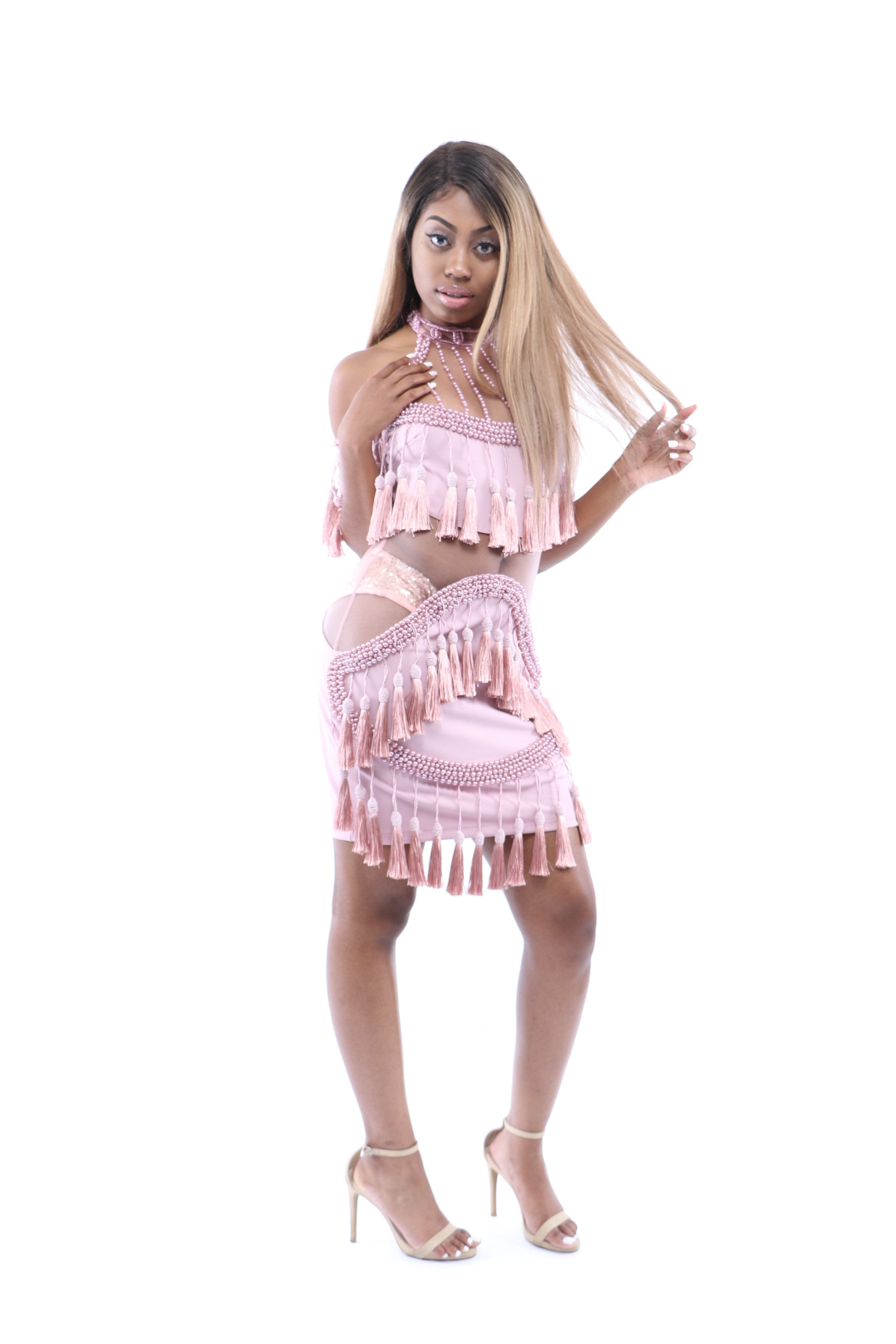 Roxy Dress Pearl Tassel