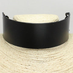 "12"" black matte 1.60"" wide collar choker necklace"