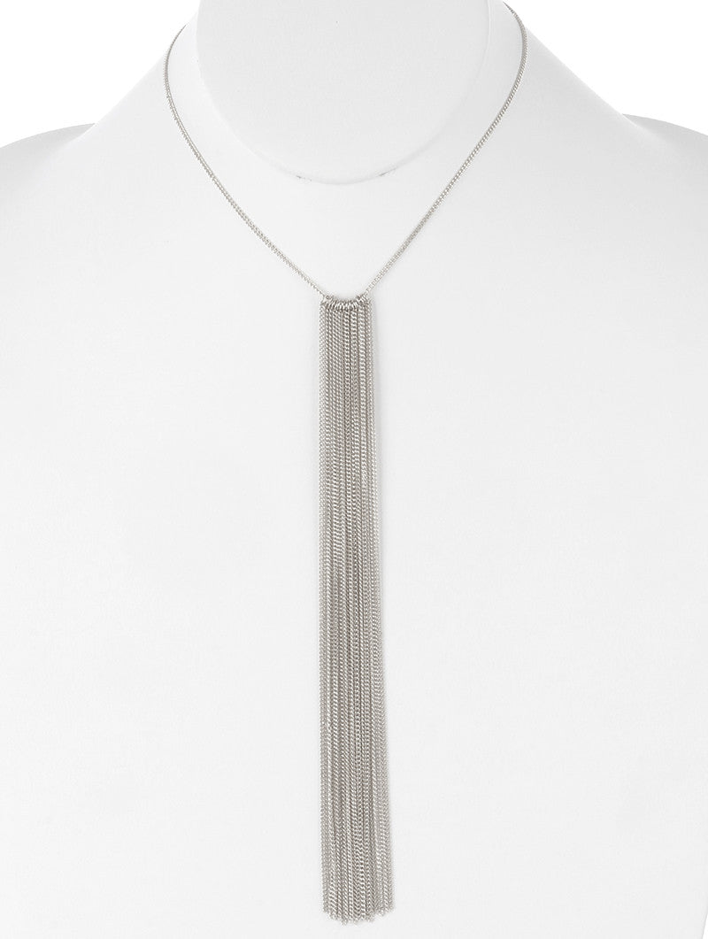 "16"" 7.50"" tassel fringe chain choker collar necklace bib"