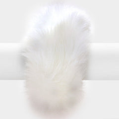 "2"" fur furry bracelet bangle cuff basketball wives"