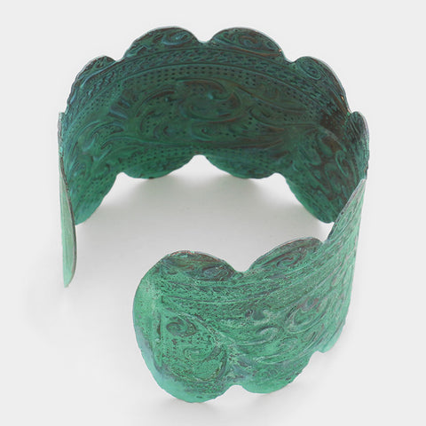 "1.75"" patina vine bracelet bangle cuff"