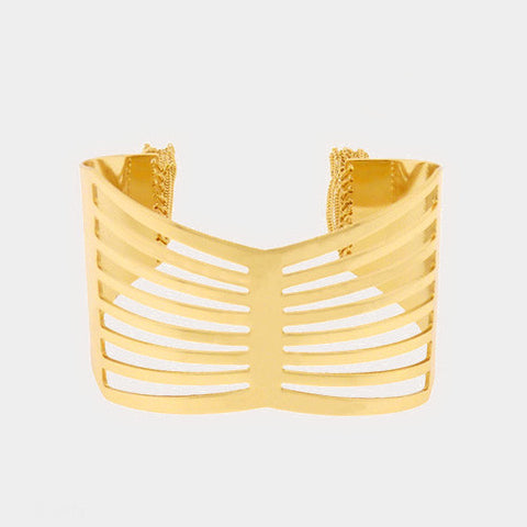 "1.50"" wide caged 2"" fringe cuff bracelet cuff bangle"