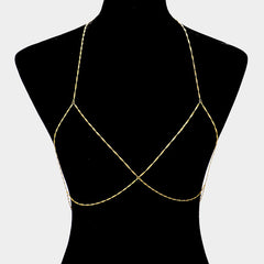 "32"" bra body chain bikini swimsuit bathing suit jewelry"
