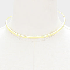 "16"" open cuff choker necklace"