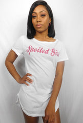 Glitter Spoiled Girl t-shirt dress
