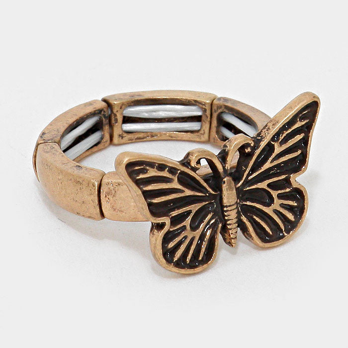 ".75"" wide butterfly stretch ring"