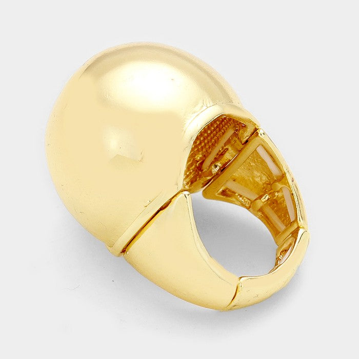 "2.40"" dome stretch cocktail ring"