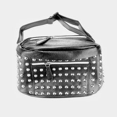 studded faux leather fanny pack handbag clutch bag purse pocketbook